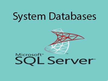 system databases in SQL server